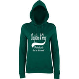 "BRIGHTON And HOVE Best City Women Hoodies White-Hoodies-AWD-Bottle Green-XS UK 8 Euro 32 Bust 30""-Daataadirect"