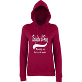 "BRIGHTON And HOVE Best City Women Hoodies White-Hoodies-AWD-Burgundy-XS UK 8 Euro 32 Bust 30""-Daataadirect"