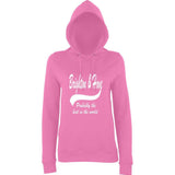 "BRIGHTON And HOVE Best City Women Hoodies White-Hoodies-AWD-Candyfloss Pink-XS UK 8 Euro 32 Bust 30""-Daataadirect"