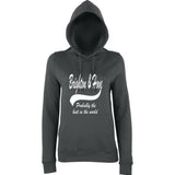 "BRIGHTON And HOVE Best City Women Hoodies White-Hoodies-AWD-Charcoal-XS UK 8 Euro 32 Bust 30""-Daataadirect"