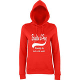 "BRIGHTON And HOVE Best City Women Hoodies White-Hoodies-AWD-Fire Red-XS UK 8 Euro 32 Bust 30""-Daataadirect"