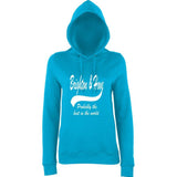 "BRIGHTON And HOVE Best City Women Hoodies White-Hoodies-AWD-Hawaiian Blue-XS UK 8 Euro 32 Bust 30""-Daataadirect"