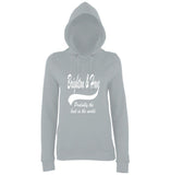 "BRIGHTON And HOVE Best City Women Hoodies White-Hoodies-AWD-Heather Grey-XS UK 8 Euro 32 Bust 30""-Daataadirect"