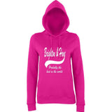 "BRIGHTON And HOVE Best City Women Hoodies White-Hoodies-AWD-Hot Pink-XS UK 8 Euro 32 Bust 30""-Daataadirect"