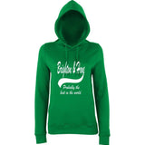 "BRIGHTON And HOVE Best City Women Hoodies White-Hoodies-AWD-Kelly Green-XS UK 8 Euro 32 Bust 30""-Daataadirect"