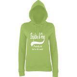 "BRIGHTON And HOVE Best City Women Hoodies White-Hoodies-AWD-Lime Green-XS UK 8 Euro 32 Bust 30""-Daataadirect"