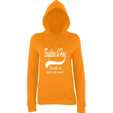 "BRIGHTON And HOVE Best City Women Hoodies White-Hoodies-AWD-Orange Crush-XS UK 8 Euro 32 Bust 30""-Daataadirect"