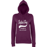 "BRIGHTON And HOVE Best City Women Hoodies White-Hoodies-AWD-Plum-XS UK 8 Euro 32 Bust 30""-Daataadirect"