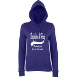 "BRIGHTON And HOVE Best City Women Hoodies White-Hoodies-AWD-Purple-XS UK 8 Euro 32 Bust 30""-Daataadirect"