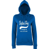 "BRIGHTON And HOVE Best City Women Hoodies White-Hoodies-AWD-Royal Blue-XS UK 8 Euro 32 Bust 30""-Daataadirect"