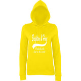 "BRIGHTON And HOVE Best City Women Hoodies White-Hoodies-AWD-Sun Yellow-XS UK 8 Euro 32 Bust 30""-Daataadirect"
