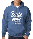 BRISTOL Best City Mens Hoodies White-Gildan-Daataadirect.co.uk
