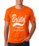 BRISTOL Best City Mens T Shirts White-Gildan-Daataadirect.co.uk