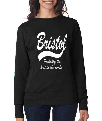 BRISTOL Best City Womens SweatShirts White-ANVIL-Daataadirect.co.uk