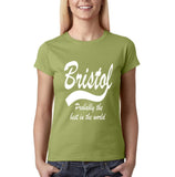 "BRISTOL Best City Womens T Shirts White-T Shirts-Gildan-Kiwi-S UK 10 Euro 34 Bust 32""-Daataadirect"