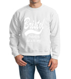 "BRISTOL Probably The Best City In The World Mens SweatShirt White-SweatShirts-Gildan-White-S To Fit Chest 36-38"" (91-96cm)-Daataadirect"