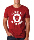 "[daataadirect.co.uk]-Brunch me in the face Men T Shirts White-T Shirts-Gildan-Antique Cherry-S To Fit Chest 36-38"" (91-96cm)-Daataadirect"