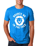 "[daataadirect.co.uk]-Brunch me in the face Men T Shirts White-T Shirts-Gildan-Antique Sapphire-S To Fit Chest 36-38"" (91-96cm)-Daataadirect"