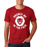 "[daataadirect.co.uk]-Brunch me in the face Men T Shirts White-T Shirts-Gildan-Cardinal-S To Fit Chest 36-38"" (91-96cm)-Daataadirect"