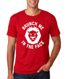 "[daataadirect.co.uk]-Brunch me in the face Men T Shirts White-T Shirts-Gildan-Cherry Red-S To Fit Chest 36-38"" (91-96cm)-Daataadirect"