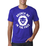 "[daataadirect.co.uk]-Brunch me in the face Men T Shirts White-T Shirts-Gildan-Cobalt-S To Fit Chest 36-38"" (91-96cm)-Daataadirect"