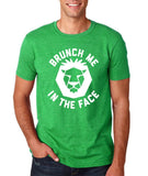 "[daataadirect.co.uk]-Brunch me in the face Men T Shirts White-T Shirts-Gildan-Heather Irish Green-S To Fit Chest 36-38"" (91-96cm)-Daataadirect"