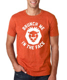 "[daataadirect.co.uk]-Brunch me in the face Men T Shirts White-T Shirts-Gildan-Heather Orange-S To Fit Chest 36-38"" (91-96cm)-Daataadirect"