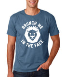 "[daataadirect.co.uk]-Brunch me in the face Men T Shirts White-T Shirts-Gildan-Indigo Blue-S To Fit Chest 36-38"" (91-96cm)-Daataadirect"