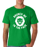 "[daataadirect.co.uk]-Brunch me in the face Men T Shirts White-T Shirts-Gildan-Irish Green-S To Fit Chest 36-38"" (91-96cm)-Daataadirect"