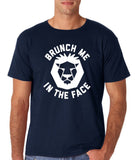 "[daataadirect.co.uk]-Brunch me in the face Men T Shirts White-T Shirts-Gildan-Navy Blue-S To Fit Chest 36-38"" (91-96cm)-Daataadirect"