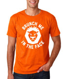 "[daataadirect.co.uk]-Brunch me in the face Men T Shirts White-T Shirts-Gildan-Orange-S To Fit Chest 36-38"" (91-96cm)-Daataadirect"