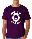 "[daataadirect.co.uk]-Brunch me in the face Men T Shirts White-T Shirts-Gildan-Purple-S To Fit Chest 36-38"" (91-96cm)-Daataadirect"