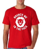 "[daataadirect.co.uk]-Brunch me in the face Men T Shirts White-T Shirts-Gildan-Red-S To Fit Chest 36-38"" (91-96cm)-Daataadirect"