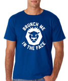 "[daataadirect.co.uk]-Brunch me in the face Men T Shirts White-T Shirts-Gildan-Royal Blue-S To Fit Chest 36-38"" (91-96cm)-Daataadirect"