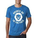 "[daataadirect.co.uk]-Brunch me in the face Men T Shirts White-T Shirts-Gildan-Sapphire-S To Fit Chest 36-38"" (91-96cm)-Daataadirect"