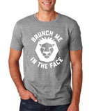 "[daataadirect.co.uk]-Brunch me in the face Men T Shirts White-T Shirts-Gildan-Sport Grey-S To Fit Chest 36-38"" (91-96cm)-Daataadirect"