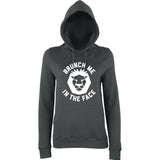 Brunch me in the face Women Hoodies White-AWD-Daataadirect.co.uk