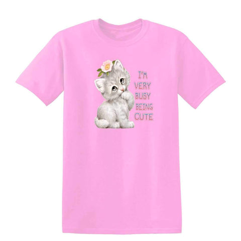 Busy Being Cute 20448HL6 Kids T Shirt-Gildan-Daataadirect.co.uk