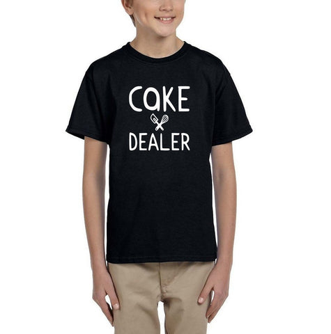 [daataadirect.co.uk]-Cake dealer White Kids T Shirt-T Shirts-Gildan-Black-YXS (3-5 Year)-Daataadirect