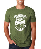 "Can I Buy U A Beard Men T Shirts White-T Shirts-Gildan-Heather Military Green-S To Fit Chest 36-38"" (91-96cm)-Daataadirect"