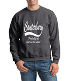"[daataadirect.co.uk]-CANTERBURY Probably The Best City In The World Mens SweatShirt White-SweatShirts-Gildan-Charcoal-S To Fit Chest 36-38"" (91-96cm)-Daataadirect"