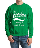 "[daataadirect.co.uk]-CANTERBURY Probably The Best City In The World Mens SweatShirt White-SweatShirts-Gildan-Irish Green-S To Fit Chest 36-38"" (91-96cm)-Daataadirect"