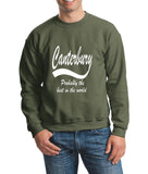 "[daataadirect.co.uk]-CANTERBURY Probably The Best City In The World Mens SweatShirt White-SweatShirts-Gildan-Navy-S To Fit Chest 36-38"" (91-96cm)-Daataadirect"