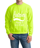 "[daataadirect.co.uk]-CANTERBURY Probably The Best City In The World Mens SweatShirt White-SweatShirts-Gildan-Safety Orange-S To Fit Chest 36-38"" (91-96cm)-Daataadirect"
