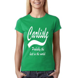 CARLISLE Best City Womens T Shirts White-Gildan-Daataadirect.co.uk