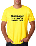 "Champagne is always a good idea Black mens T Shirt-T Shirts-Gildan-Daisy-S To Fit Chest 36-38"" (91-96cm)-Daataadirect"