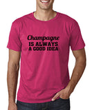 "Champagne is always a good idea Black mens T Shirt-T Shirts-Gildan-Heliconia-S To Fit Chest 36-38"" (91-96cm)-Daataadirect"