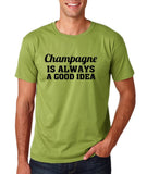 "Champagne is always a good idea Black mens T Shirt-T Shirts-Gildan-Kiwi-S To Fit Chest 36-38"" (91-96cm)-Daataadirect"