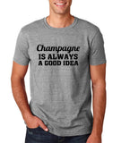 "Champagne is always a good idea Black mens T Shirt-T Shirts-Gildan-Sport Grey-S To Fit Chest 36-38"" (91-96cm)-Daataadirect"