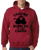 "Chasing bubbles is my cardio chimpanzee Mens Hoodies Black-Hoodies-Gildan-Antique Cherry-S To Fit Chest 36-38"" (91-96cm)-Daataadirect"